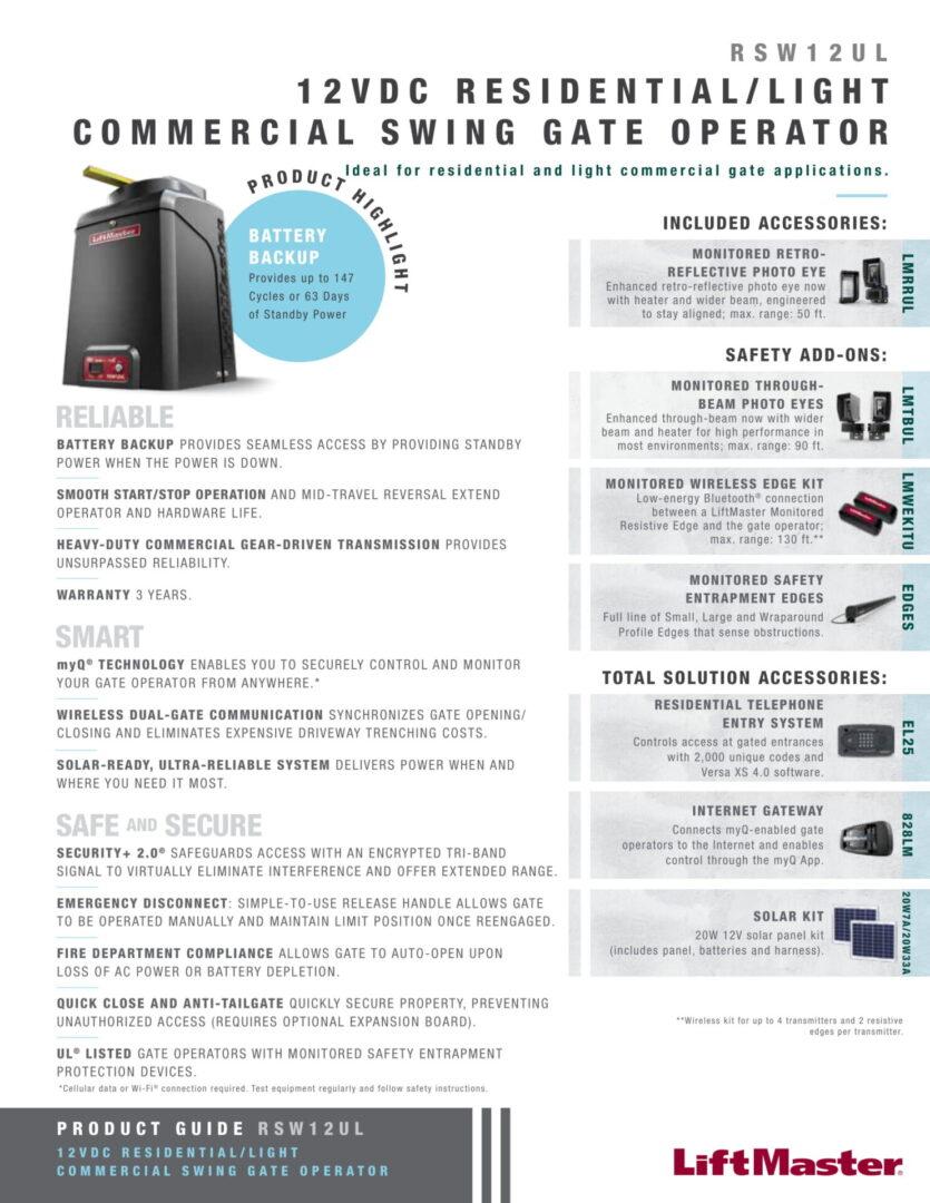 Residential_Light Commercial Swing Operator-1